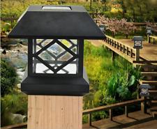 LED Solar Outdoor Light Post Cap Garden Fence