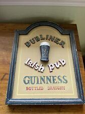 dubliner irish pub wood guiness sign
