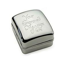 Personalised Chrome Ring Case / Box CAN BE ENGRAVED