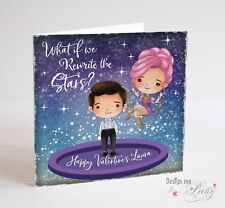 THE GREATEST SHOWMAN Personalised Valentines card - What If We Rewrite the Stars