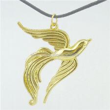"Alloy Gold Phoenix Phenix Bird Animal Pendant 17"" Choker Collar Necklace 13052"