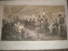Entertainment for Admiral Dundas on HMS Wellington 1856 print ref AT