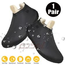 Uisex Silicone Overshoes Rain Waterproof Recyclable Shoe Covers Boot Protector