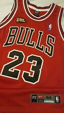 Michael Jordan 1998 NBA Finals Chicago Bulls Nike Rd Authentic Jersey Size 44 !