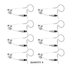Lot of 8 Pyle PMEMS10 Ear Mini XLR Omni-Directional Microphone For Shure System