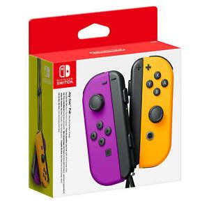 Nintendo Switch Joy-Con Coppia Controller Viola Neon / Arancione Originale