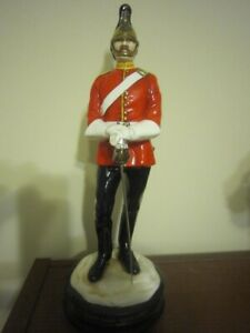 Michael Sutty porcelain soldier - Officer of 2nd Dragoon Guards (Queens's Bays)