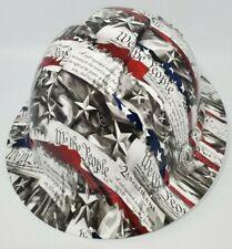 New Full Brim Hard Hat Custom Hydro Dipped 2nd Amendment We The People Free Ship
