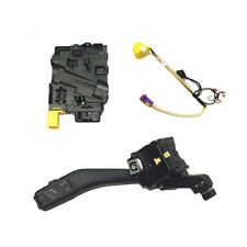 3x Steering Wheel Module w.Cable+Cruise Stalk New Set For VW Golf GTI 6 Jetta 5