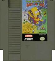 The Simpsons: Bart vs. the World AND Space Mutants LOT OF 2 (NES, NINTENDO) Test