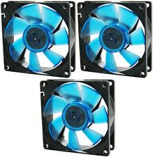 3 x Gelid Solutions WING 8 BLU UV 80mm Ultraviolet reattiva silenziosa Case Fan