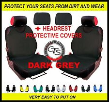 CAR FRONT SEAT COVERS PAIR + HEADREST DARK GREY VOLVO V40 C30 S60