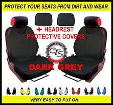 CAR FRONT SEAT COVERS PAIR HEADREST DARK GREY VW POLO MK1 MK2 GTI GOLF MK5 PLUS