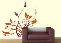 00222 Wall Sticker stickers fiori3 spighe Adesivi Murali salone