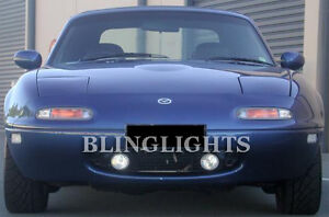 Xenon Halogen Fog Lamps Light Kit for 90-98 Mazda Miata lights 92 93 94