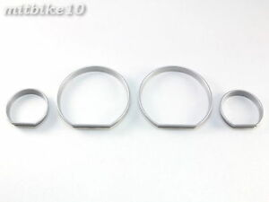 98-05 BMW E46 320i 325i 330i Silver INSTRUMENT CLUSTER DASH BOARD GAUGES RINGS
