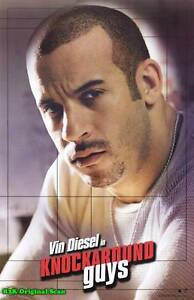 MOVIE POSTER~Vin Diesel-Knockaround Guys 2001 Film Sheet Dennis Hopper 1~3533