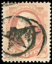 momen: US Stamps #186 Used Sound Fancy Star Cancel