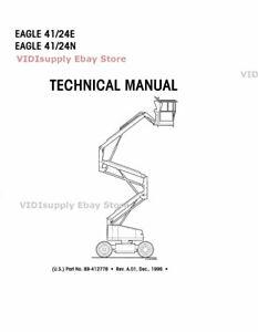 New Simon Eagle 41/24E and 41/24N Electric Boom Lift Service Technical Manual