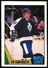 1987 88 OPC O PEE CHEE HOCKEY #243 VINCENT DAMPHOUSSE RC NM MAPLE LEAFS ROOKIE