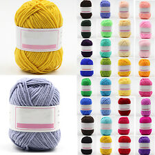 1 Skein 50g Soft Baby Bamboo Cotton Yarn New Hand dyed Wool Socks Scarf Knitting
