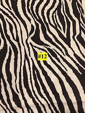 WILD ANIMAL Zebra White Tiger type PRINT 100% COTTON FABRIC by the yard #12