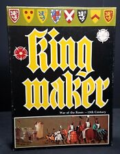 Vintage 1976 Avalon Hill King Maker War Of The Roses Board Bookcase Game 818