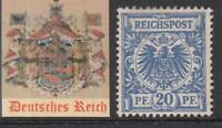 GERMANY - 1889 REICH Mi 48 cv 300$ MH* very fine condition