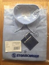 """Mens Stormchaser Oxford Blue Work Shirt Long Sleeve Cotton Rich Size 15.5"""""""
