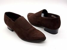 ARCHE Size 40 9 Brown Suede Block Low Heel Slip On Pointed Toe Shoes