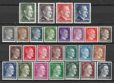 GERMANY 1940's ADOLF HITLER Definitives 26 values as shown MNH