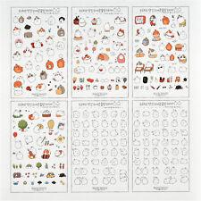 6pc Kawaii Rabbit Girl Color Deco Stickers Diary Scrapbook Decal Photo Craft DIY