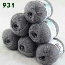 Lot of 6ballsX50g LACE Acrylic Wool Cashmere hand knitting Yarn Dark Gray