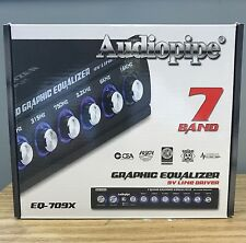 Audiopipe Eq709X 7-Band Graphic In-Dash Equalizer Replaces Eq707X Brand New