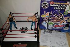 WWF/RAW Stunt Action Spring Ring with 2 Wrestling Figures - Boxed