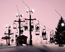 "8 x 10 Silver Metallic Art Photograph ""Top of the Ski Lift""  Wall Decor Picture"