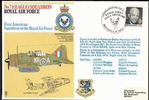UNITED STATES, 1974 No71(EAGLE) SQDN FLIGHT COVER