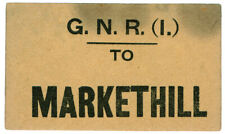 (I.B) Great Northern Railway (Ireland) : Parcel Label (Markethill)