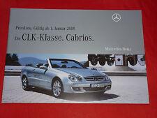 MERCEDES A209 CLK-Klasse Cabriolets CLK 320 CDI - 63 AMG Preisliste von 2009