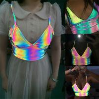 New Buckles Clubwear Festival Bralet Bra Bustier Crop Tops Bralette Camisole
