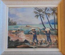 Peinture Huile Sur Toile Vietnam Indochine Peintre Voyageur vers 1930