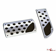 BRUSHED STAINLESS STEEL AUTOMATIC BRAKE GAS PEDAL PADS FORD F150 F250 F350 F450