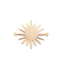 Sun Charm Connector Light Rose Gold Stamping Blank Sunburst Celestial Link