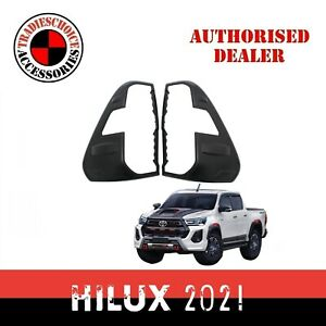 Black Rear Tail Light Lamp Cover For Toyota Hilux Rogue 2020 2021 2022 SR5