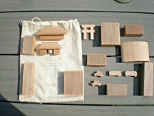 City Village Tokyo Wooden blocks in Bag  Building Bricks Blocks Wooden Stones