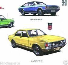 FORD GRANADA Mk1 & Mk2 Fine Art Print - GXL Ghia Sapphire Consul GT Coupe 2.8i X