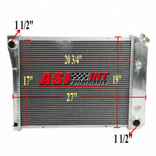 3/TRI Row Aluminum Radiator For 1970-1981 Chevy Camaro Chevelle Nova US