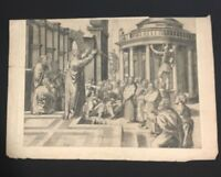 Paul Addressing Athens Engraving After Marcantonio Raimondi's Raphael Sistine