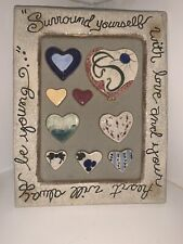 """New listing Blue Sky Clayworks Ceramic Picture Frame """"Surround Yourself"""" by Heather Goldminc"""