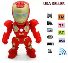 Iron Man C-89 Mini Portable Bluetooth Speaker Super Bass Stereo FM radio TF- Red